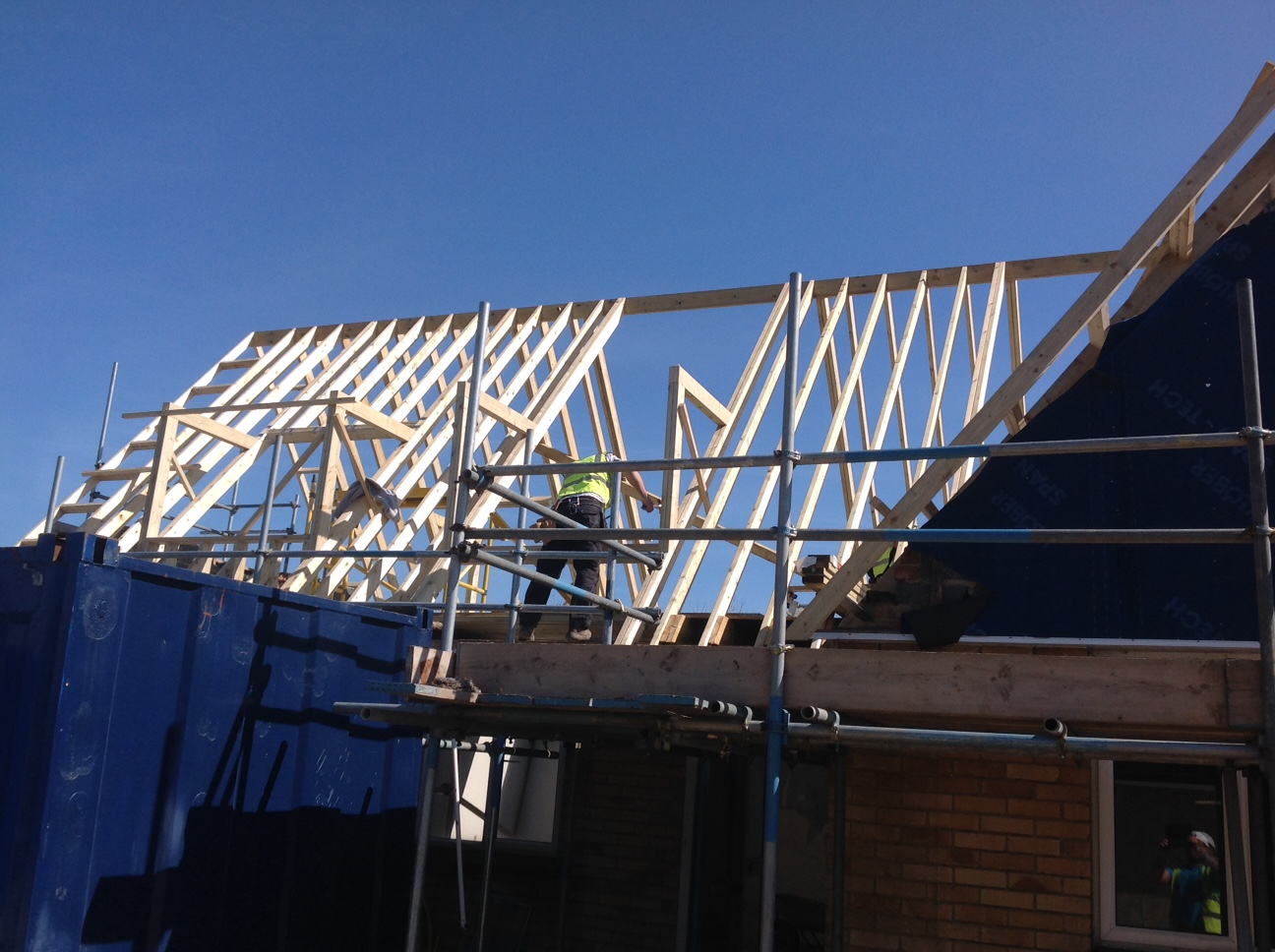 Whistable Housing Development external building stage roof